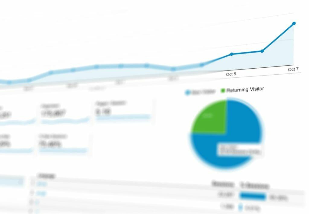 Statistieken uitgedrukt in grafieken binnen Google Analytics