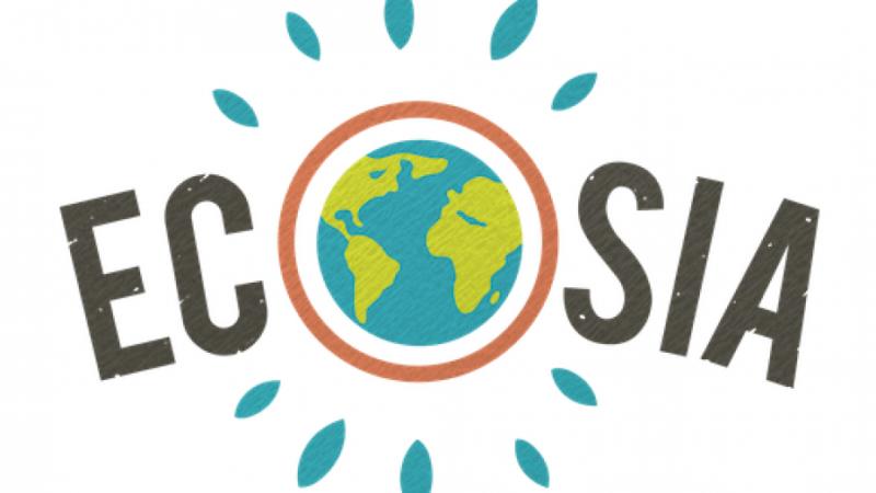 Het logo van Ecosia